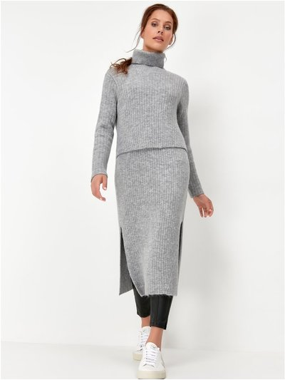 Sonder Studio split hem knitted dress