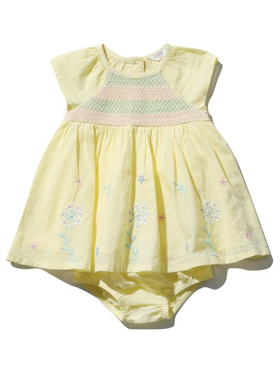 Floral smock dress and knickers (0mths-4yrs)