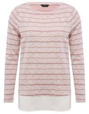 Metallic stripe two in one top