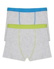 Plain trunks two pack (3-10yrs)