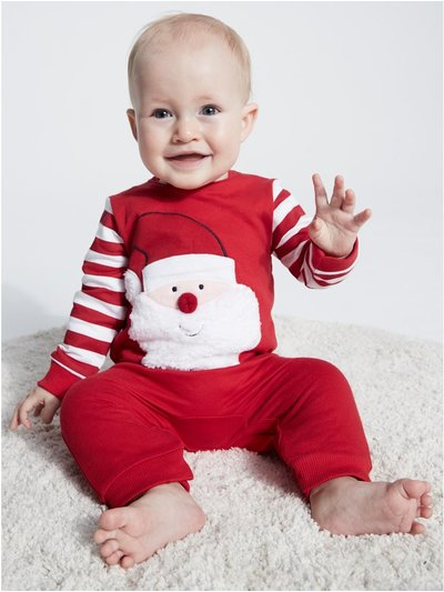 Santa Claus Christmas romper (Tiny baby - 12 mths)