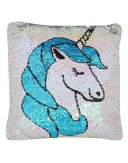 Unicorn flip sequin cushion