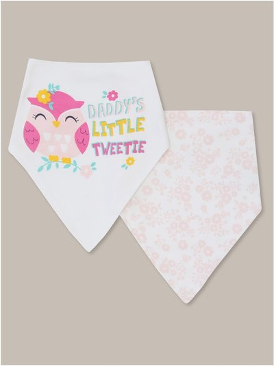 Daddy slogan dribble bibs two pack