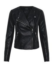 Vero Moda collarless biker jacket