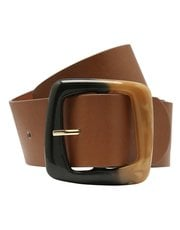 Tan square buckle belt