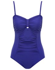 Ruched tummy control multiway swimsuit