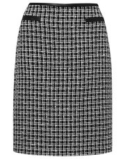 Check boucle mini skirt