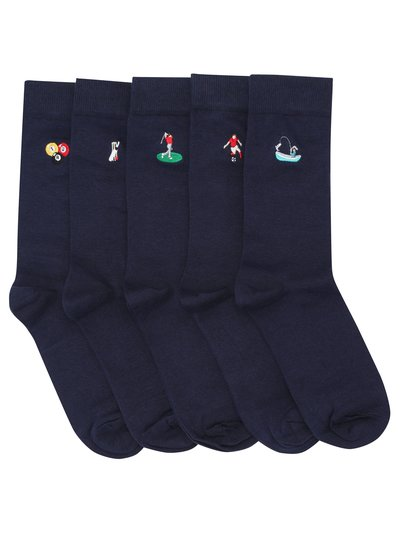 Sport embroidered socks five pack