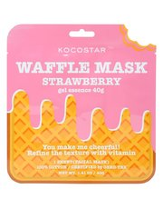 Strawberry waffle face mask