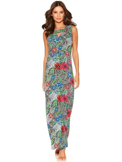 Chevron floral maxi dress