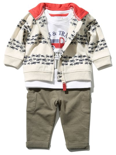 Tractor hoodie top and joggers set (0 mths - 4 yrs)