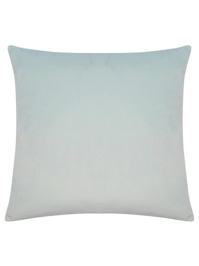 Misty blue velour cushion