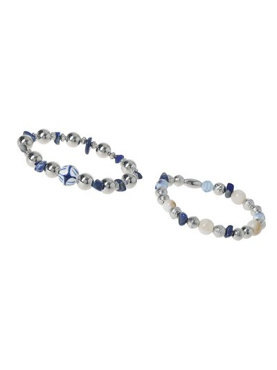 Silver and Blue Bracelet Pack