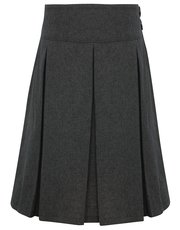 Pleated stretch school skirt