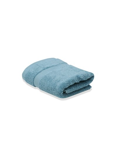 Grey combed cotton hand towel