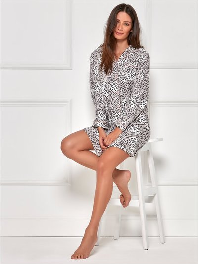 Animal print shirt nightdress