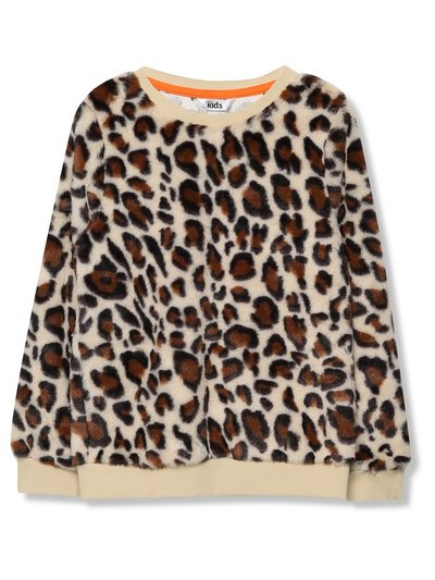 Leopard print fleece sweatshirt (3-9yrs)
