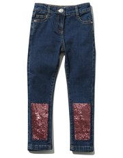 Two way sequin jeans