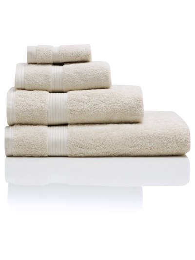 White combed cotton bath towel