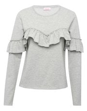 Ruffle front sweater top