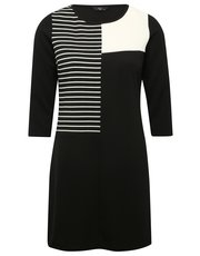 Petite monochrome block tunic dress