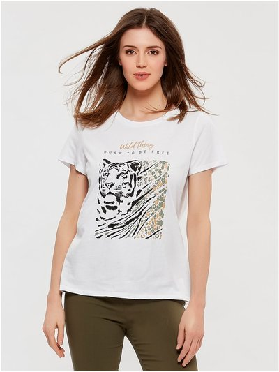 Wild thing slogan t-shirt