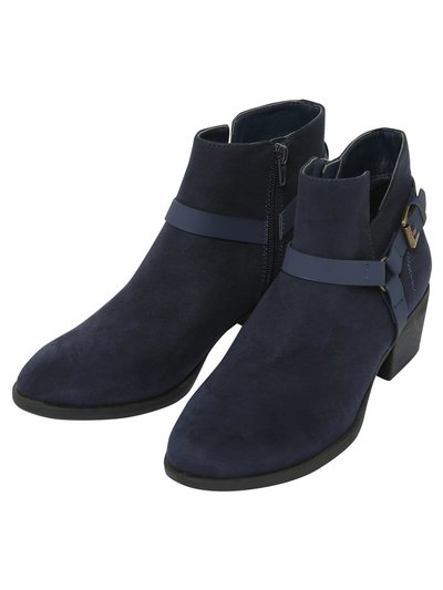 Addition zip and buckle boot