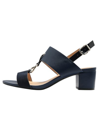 Sandra trim detail low block heel sandal