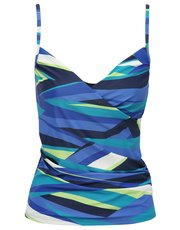 Stripe underwired tankini top