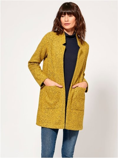 Spirit notch neck throw on coat