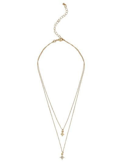 Star double layered necklace
