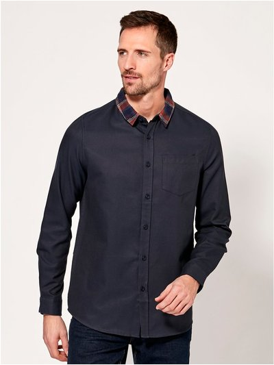 Checked collar shirt