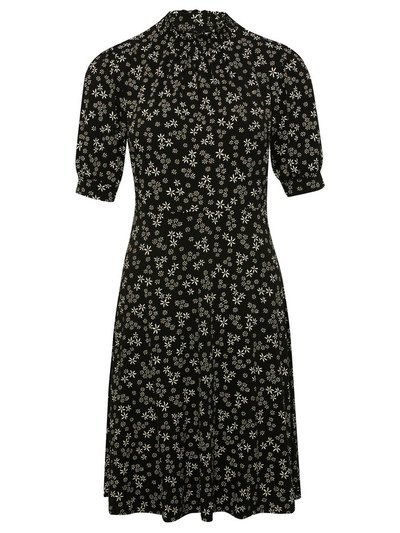 Petite Floral ditsy shirred midi dress