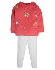 Floral sweatshirt and leggings set (9mhts-5yrs)