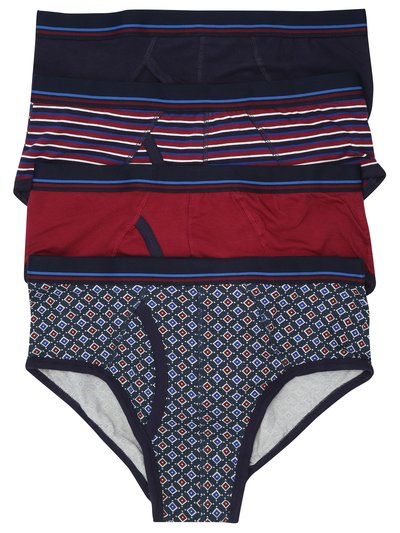 Patterned briefs four pack