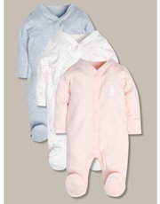 Sleepsuits three pack (Tiny baby-24mths)