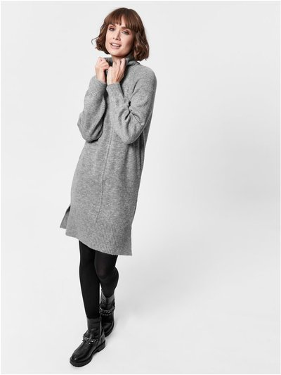 Knitted rollneck jumper dress