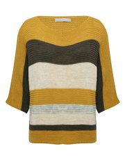 LV Clothing stripe ribbed jumper