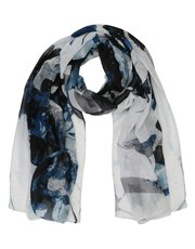 Floral print sequin scarf