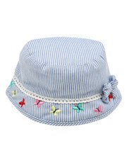 Stripe embroidered sun hat
