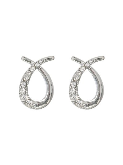 Diamante loop earrings