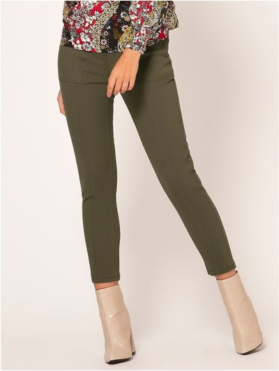 Petite utility pocket trousers