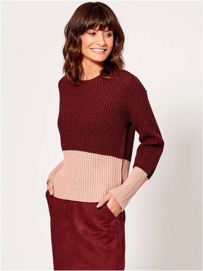 Vero Moda colourblock knit jumper