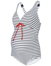 Mamalicious stripe print maternity swimsuit