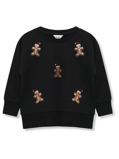 Sequin gingerbread Christmas sweatshirt (3-12yrs)