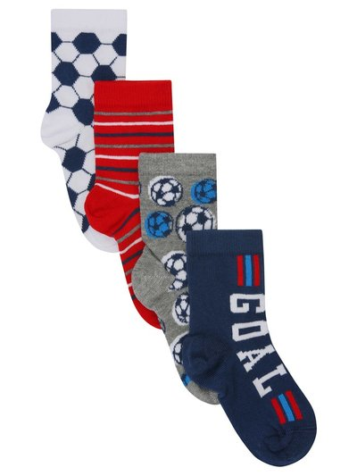 Football themed socks four pair pack