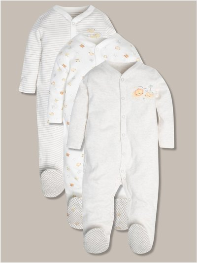 Jungle print sleepsuits three pack (tiny baby-24mths)