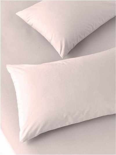 Cotton rich pink pillowcases two pack