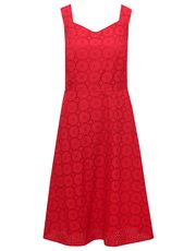 Broderie anglaise fit and flare dress