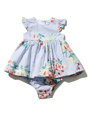 Minoti rose dress and knicker set